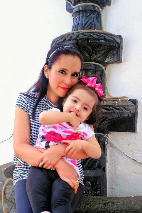 Tere Garduza con su hija Mayte