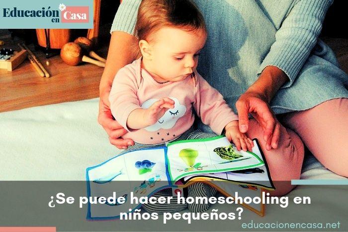 ¿Se puede hacer homeschooling en niños pequeños?