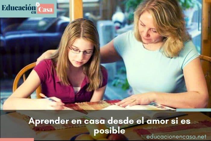 aprender en casa desde el amor