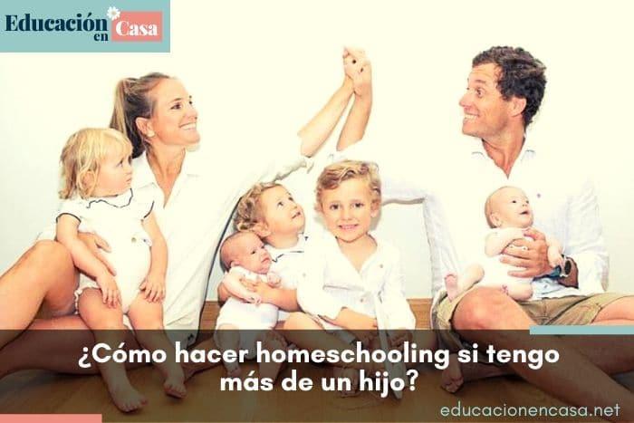 homeschooling con más de un hijo