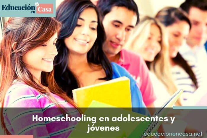 homeschooling en adolescentes y jóvenes
