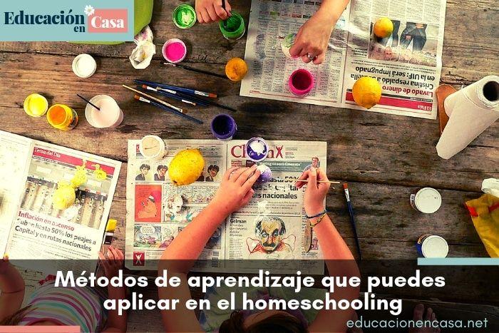 Los principales métodos de aprendizaje que puedes aplicar en el homeschooling
