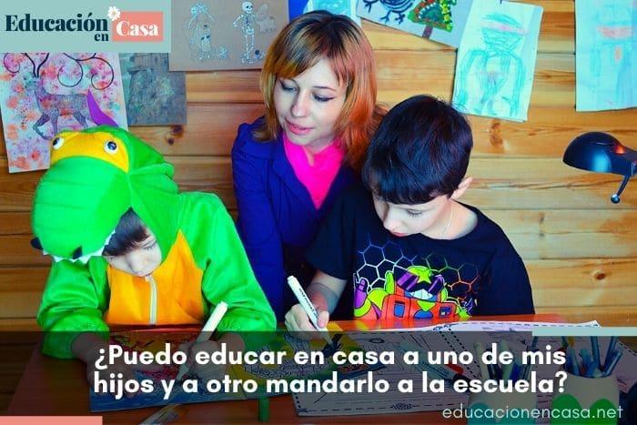 puedo educar en casa a uno de mis hijos y a otro mandarlo a la escuela