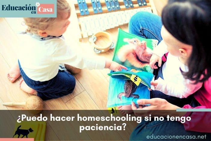 No sé si tendré la paciencia necesaria para hacer homeschooling y estar todo el día con mis hijos